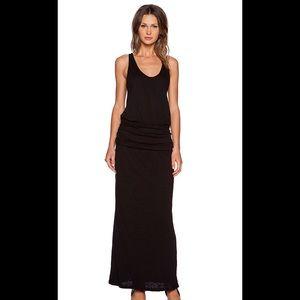Joie long maxi summer dress in black